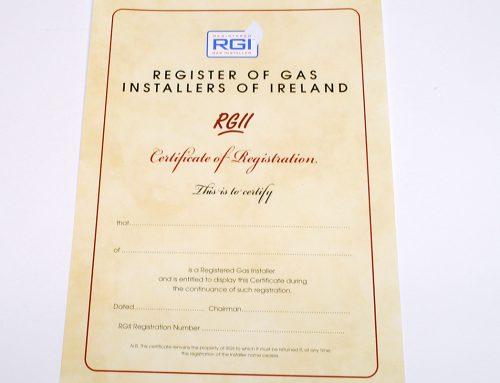 RECI A4 Certificates