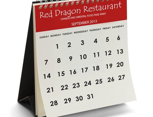 Custom print desk calendar