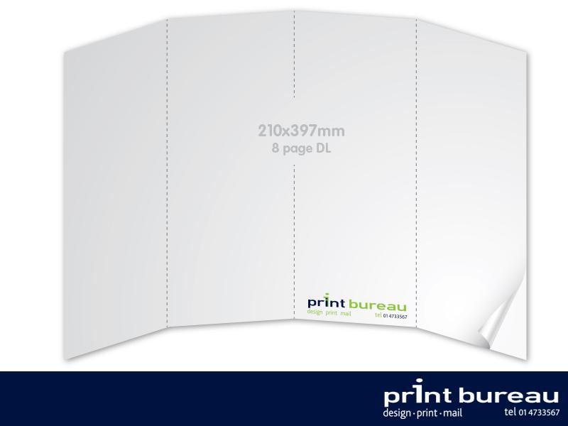8 page dl brochure printing 210x99mm print bureau design and