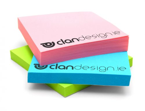 Custom Colour Sticky Notes Clan Design